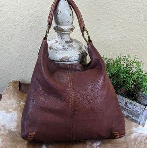 Vtg Lucky Brand Whip Stitched Hobo Shoulder Bag